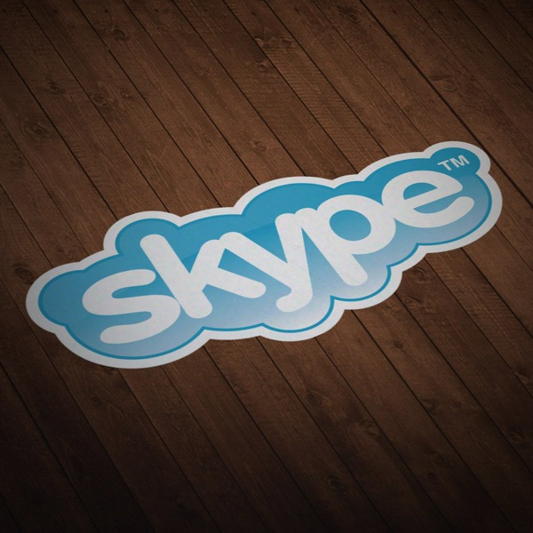 Car & Motorbike Stickers: Skype