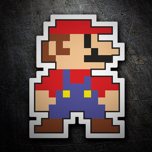 Car and Motorbike Stickers: Mario Bros Pixel