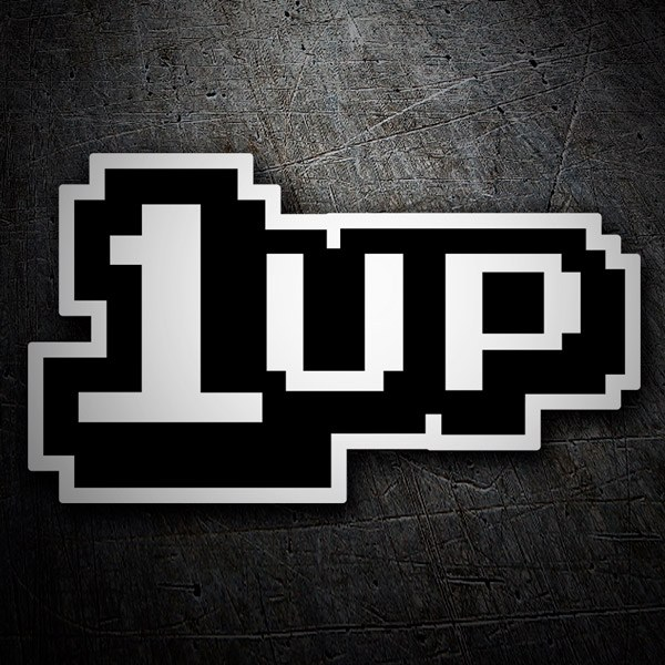 Car & Motorbike Stickers: 1up Extra Life