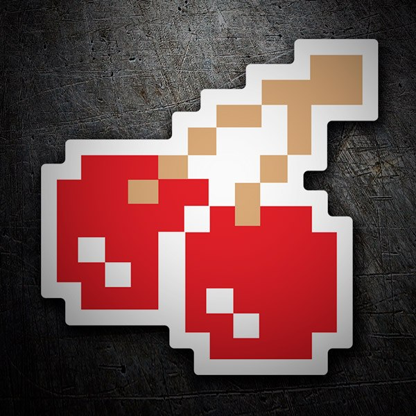 Car and Motorbike Stickers: Cherries Pixel Pac-Man
