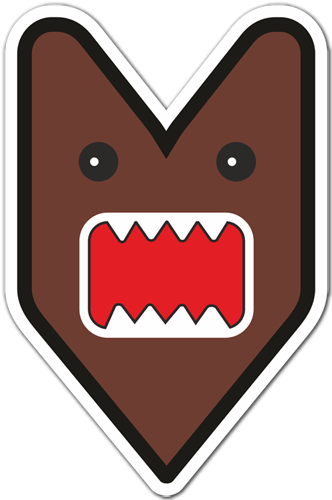 Car and motorbike stickers domo kun jdm - Stickers muraux noir et blanc ...
