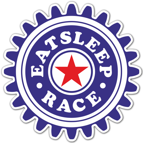 Car & Motorbike Stickers: Eat Sleep and Race