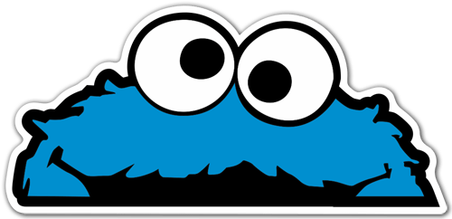 Car & Motorbike Stickers: Cookie Monster