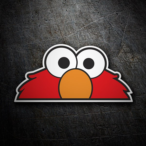 Car and Motorbike Stickers: Elmo