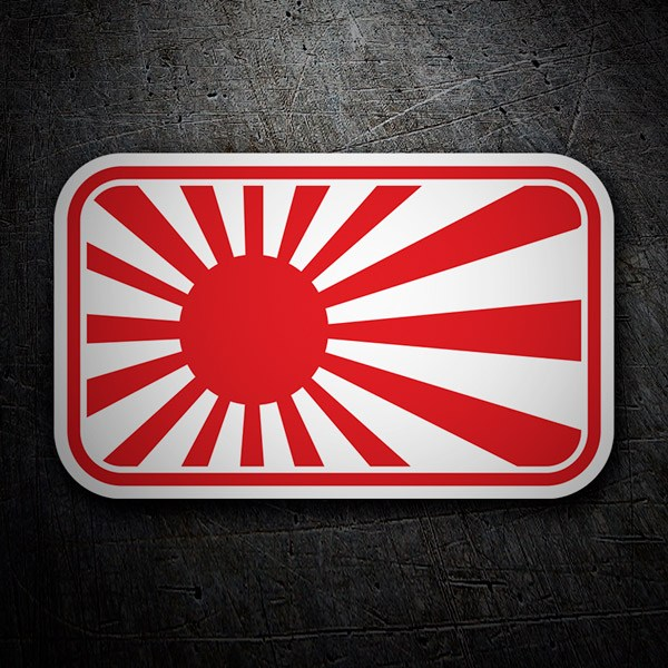 Car & Motorbike Stickers: Japanese Flag Rising Sun 2