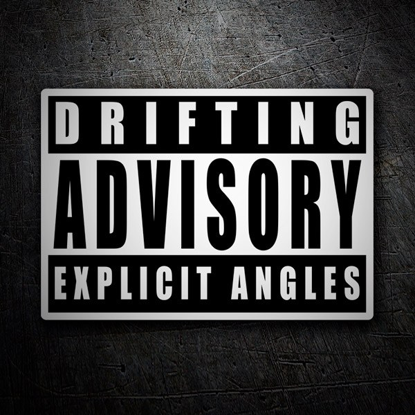 Car & Motorbike Stickers: Drifting Advisory Explicit Angles