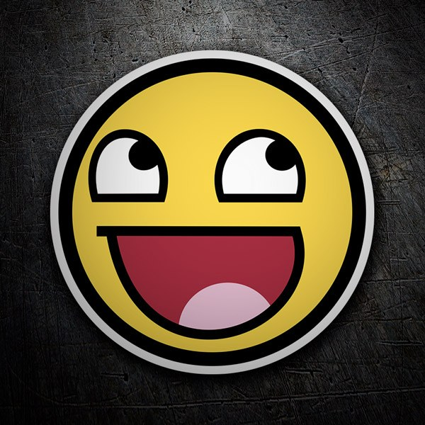 Car and Motorbike Stickers: Meme Smiley 1