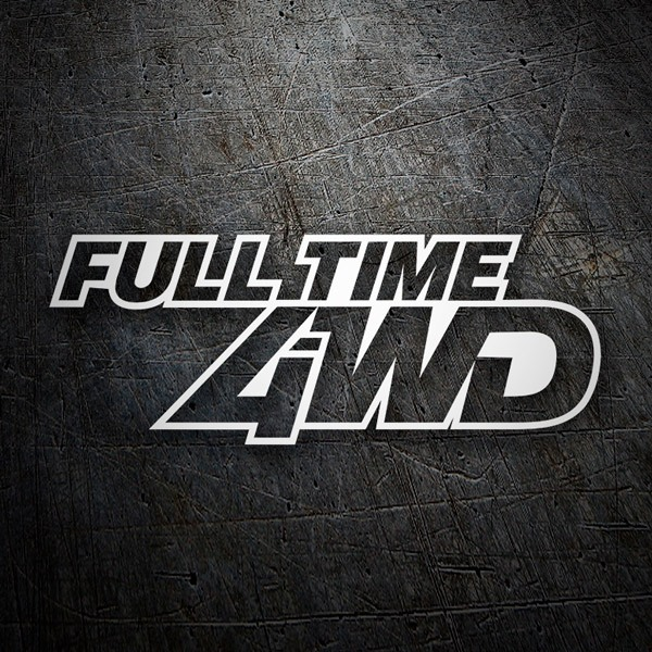 Car & Motorbike Stickers: Full Time 4WD