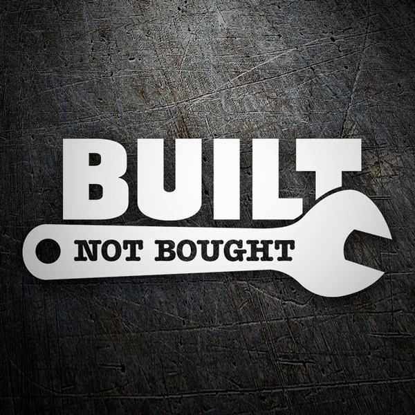 Car & Motorbike Stickers: Built Not Bought