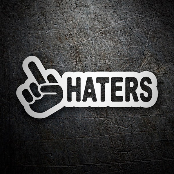 Car & Motorbike Stickers: Fuck Haters