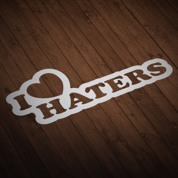 Car & Motorbike Stickers: I love Haters contour