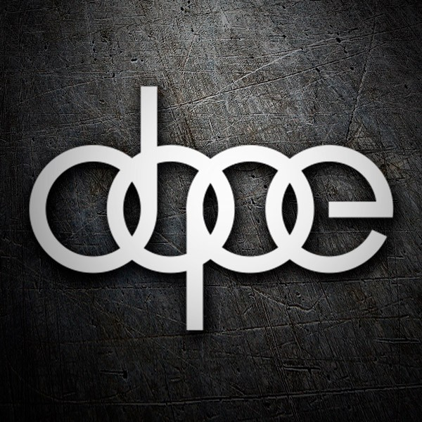 Car & Motorbike Stickers: Dope