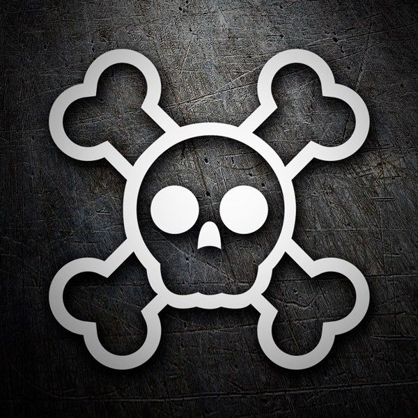 Car & Motorbike Stickers: Skull logo