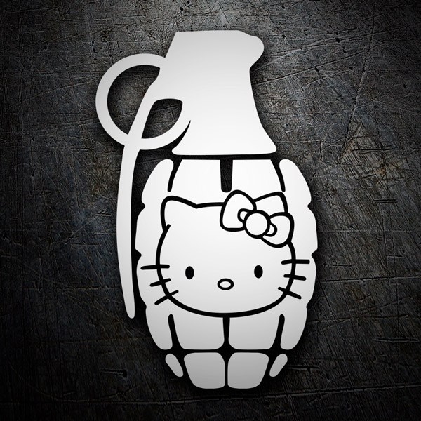 Car & Motorbike Stickers: Hello Kitty Grenade