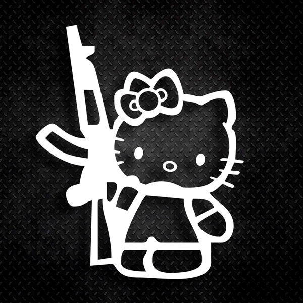 Car & Motorbike Stickers: Hello Kitty AK47