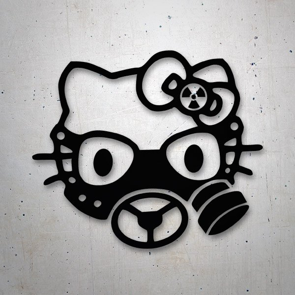 Car & Motorbike Stickers: Hello Kitty gas mask