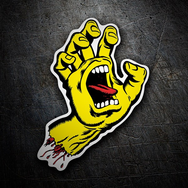 Car & Motorbike Stickers: Santa Cruz Screaming Hand Yellow