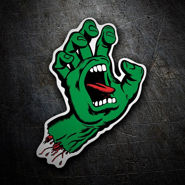 Car & Motorbike Stickers: Santa Cruz Screaming Hand Green