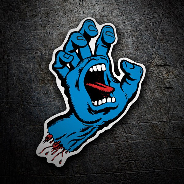 Car & Motorbike Stickers: Santa Cruz Screaming Hand Blue
