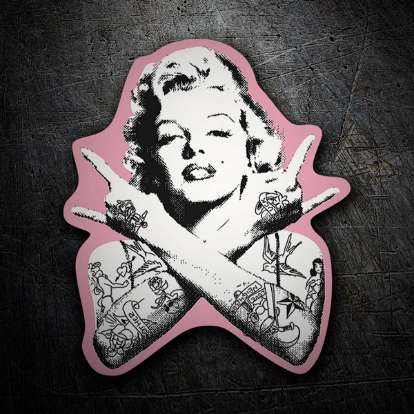 Car & Motorbike Stickers: Marilyn Monroe Punk