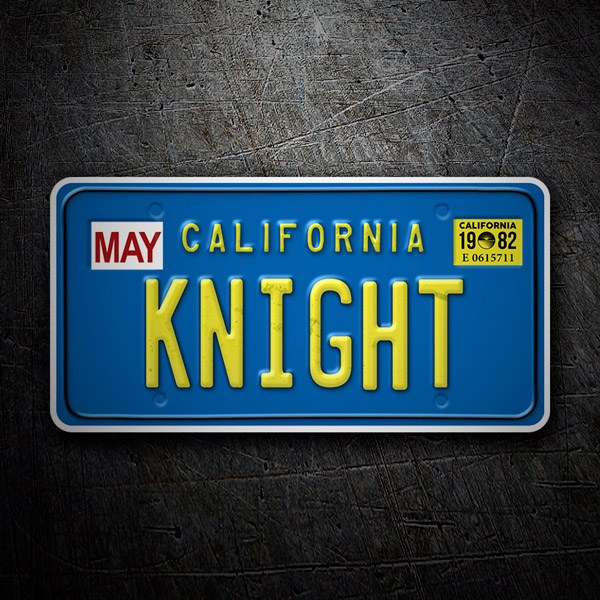 Car and Motorbike Stickers: Knight Rider license plate
