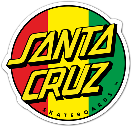Subaru Santa Cruz >> Sticker Santa Cruz Jamaica | MuralDecal.com