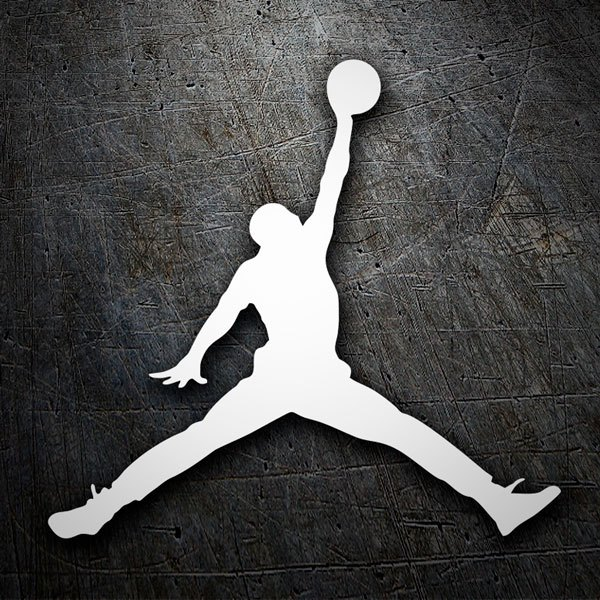 Car & Motorbike Stickers: Silhouette Air Jordan