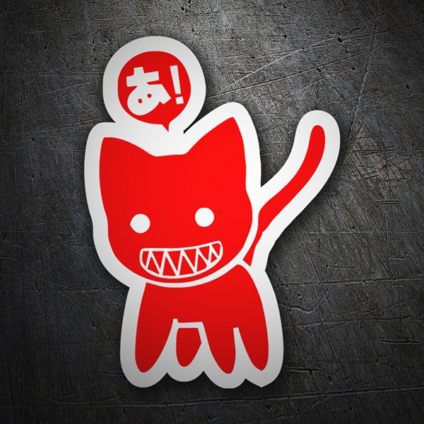 Car & Motorbike Stickers: Red cat JDM