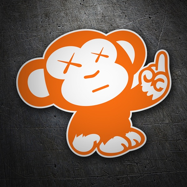 Car & Motorbike Stickers: Mono orange JDM