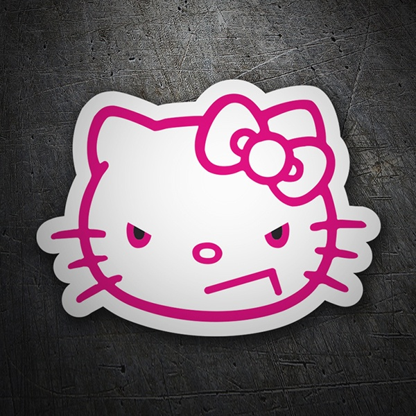 Car & Motorbike Stickers: Hello Kitty angry