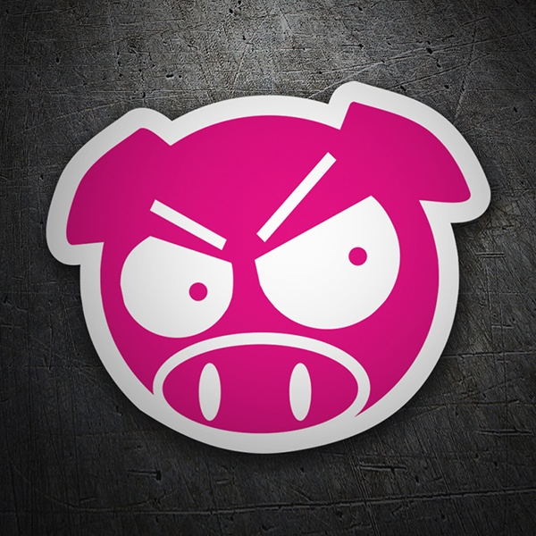 Car & Motorbike Stickers: Pig Angry JDM