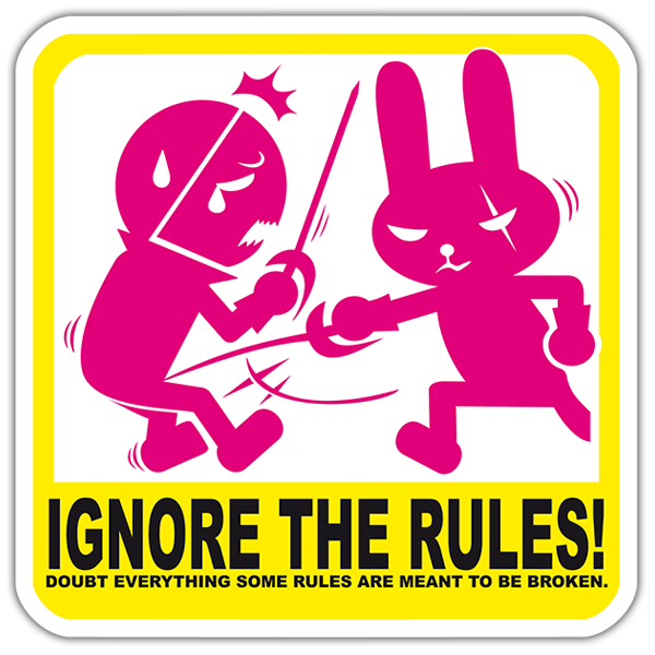 Car & Motorbike Stickers: Ignore the rules