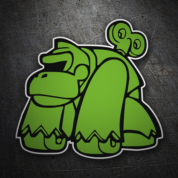 Car & Motorbike Stickers: Green monkey
