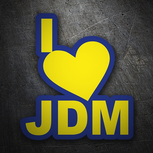 Car & Motorbike Stickers: I love JDM