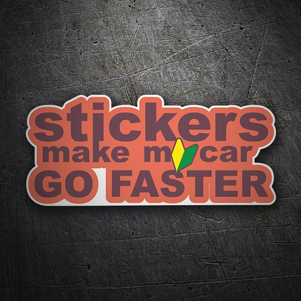 Car & Motorbike Stickers: Stickers make my car go faster
