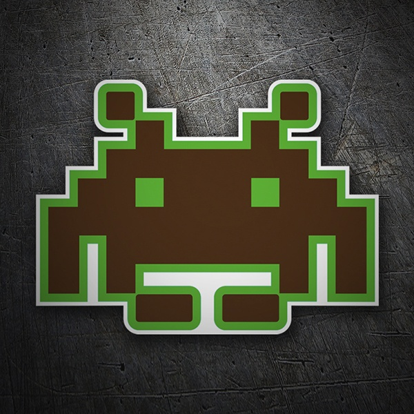 Car & Motorbike Stickers: Space invaders 1