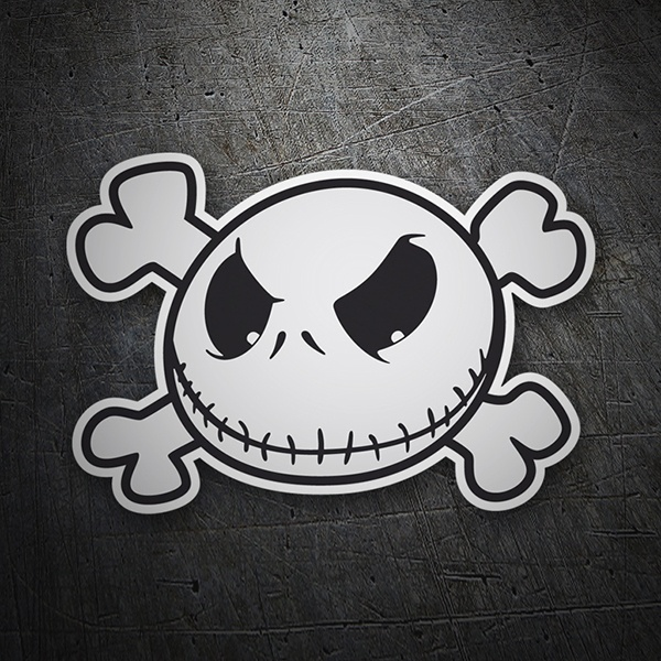 Car & Motorbike Stickers: Jack Skellington Pirate