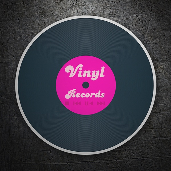 Car and Motorbike Stickers: Vinyl Records