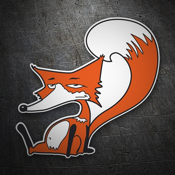 Car & Motorbike Stickers: Tired fox
