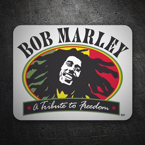 Car & Motorbike Stickers: Bob Marley Freedom