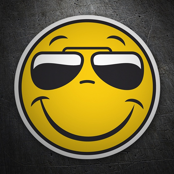 Car and Motorbike Stickers: Smile Sunglasses