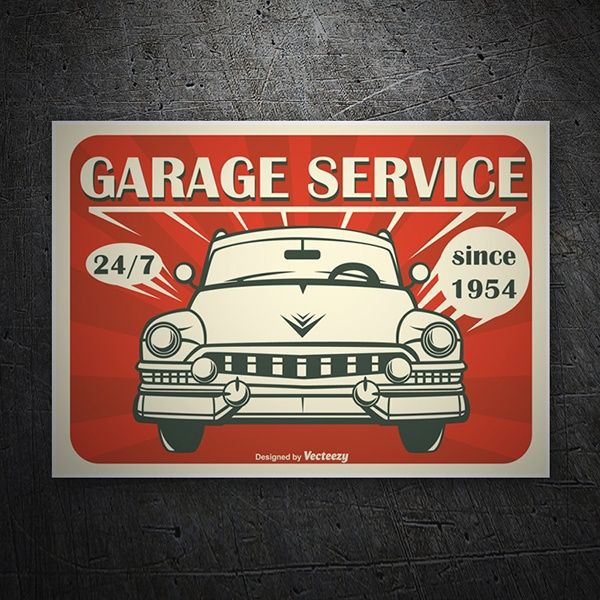 Car & Motorbike Stickers: Garage Service