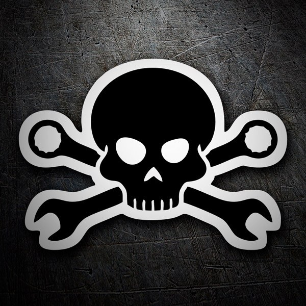Car & Motorbike Stickers: Mechanic Skull