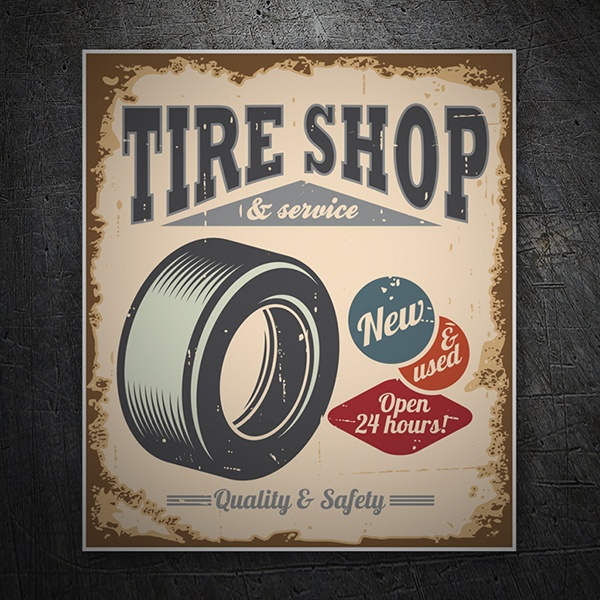 Car & Motorbike Stickers: Tire Shop