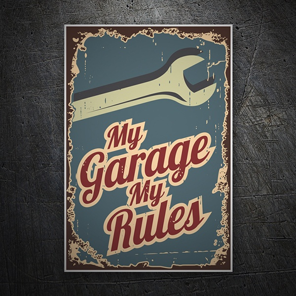 Car & Motorbike Stickers: My Garage My Rules