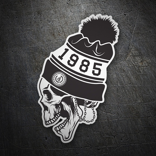 Car & Motorbike Stickers: Skull 1985