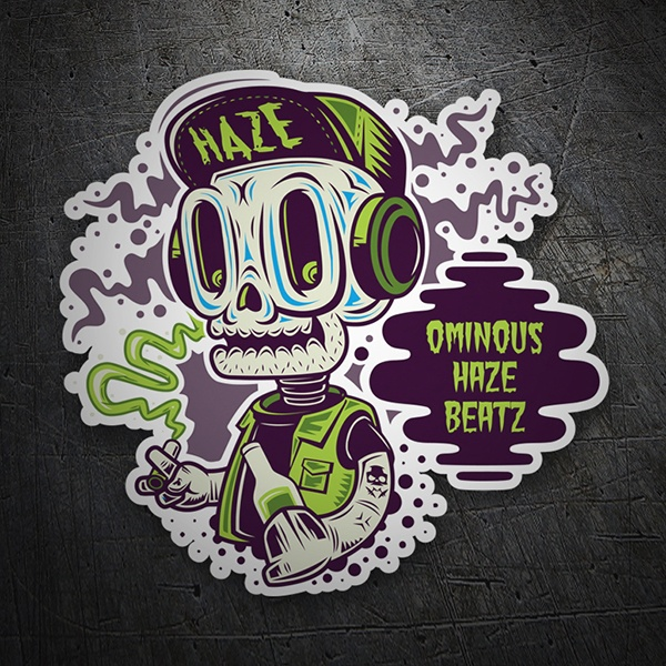 Car & Motorbike Stickers: Skull Haze