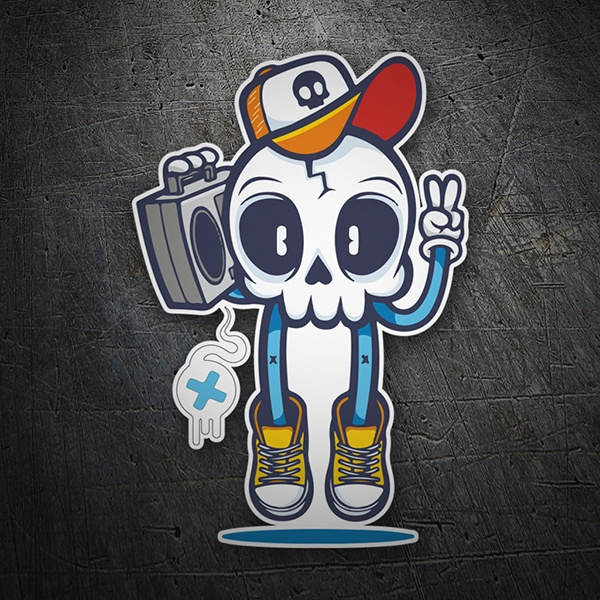 Car & Motorbike Stickers: Skull Hip Hop
