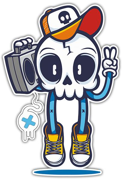 Sticker Skull Hip Hop Muraldecal Com
