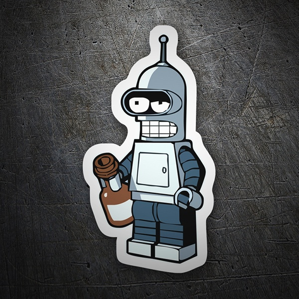 Car & Motorbike Stickers: Bender Lego drunk